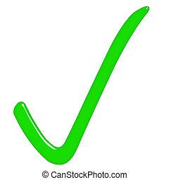 3d, signe, tique