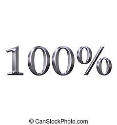 3D Silver 100 Percent