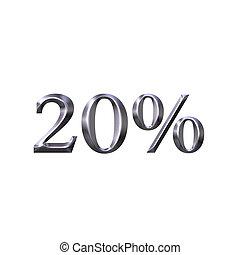 3D Silver 20 Percent