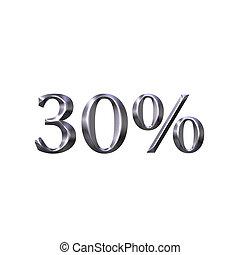3D Silver 30 Percent