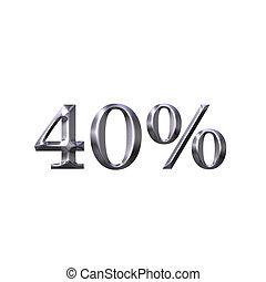 3D Silver 40 Percent