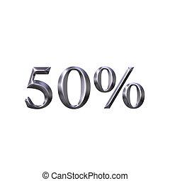 3D Silver 50 Percent