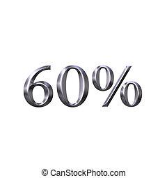 3D Silver 60 Percent