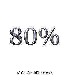 3D Silver 80 Percent