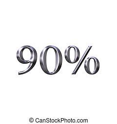 3D Silver 90 Percent
