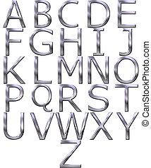 3D Silver Alphabet
