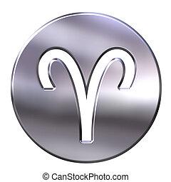 3D Silver Aries