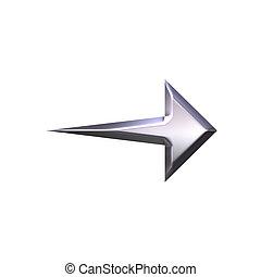 3D Silver Arrow