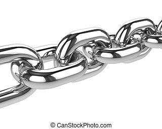 3d Silver chain