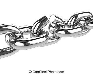 3d Silver chain breaks