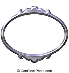 3D Silver Frame - 3d silver frame isolated in white