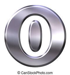 3D Silver Framed Number 0