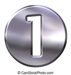 3D Silver Framed Number 1