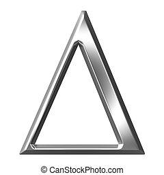 3D Silver Greek Letter Delta - 3d silver Greek letter Delta...