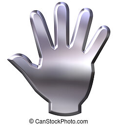 3D Silver Hand