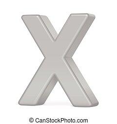 3d silver letter X