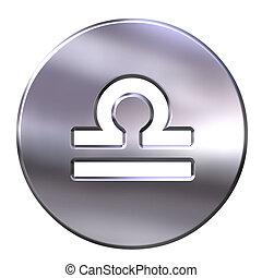 3D Silver Libra