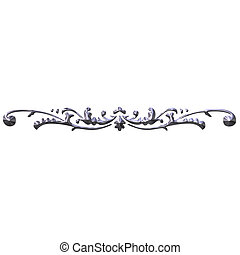 3D Silver Ornament - 3d silver ornament isolated in white