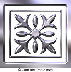3D Silver Ornament