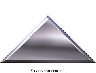 3D Silver Pyramid - 3d silver pyramid isolated in white