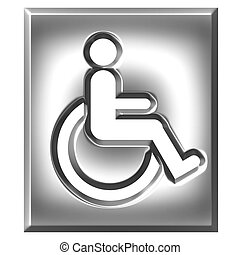 3D Silver Special Needs Sign - 3d silver special needs sign...
