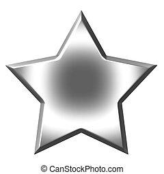 3D Silver Star