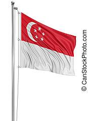 3D Singapore flag