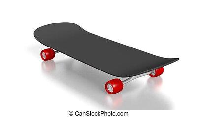 3D skateboard on white background
