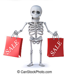 3d Skeleton has been to the sales