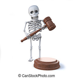 3d Skeleton runs an auction