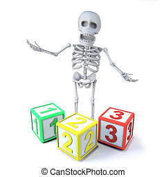 3d Skeleton teaches you how to count to 3