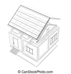 3d sketch of a house
