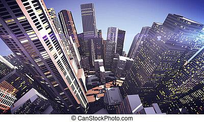 3D Skyscrapers