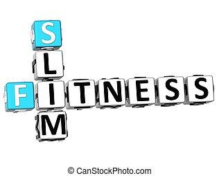 3D Slim Fitness Crossword