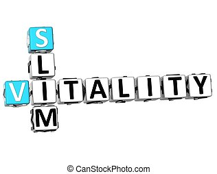 3D Slim Vitamin Crossword