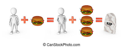 3d small people and fast food problem