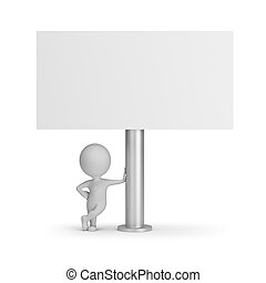 3d small people - billboard