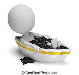 3d small people - caviar bath