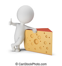 3d small people - cheese