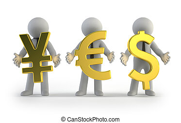 3d small people - currency
