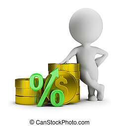 3d small people - deposit percentage
