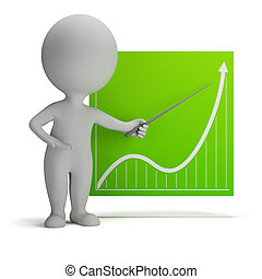 3d small people - diagram - 3d small person with a pointer ...