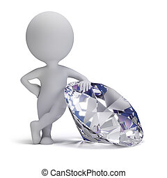 3d small people - diamond