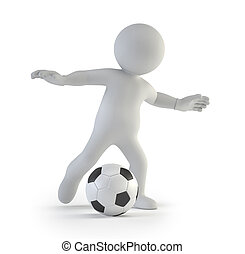 3d small people - football player