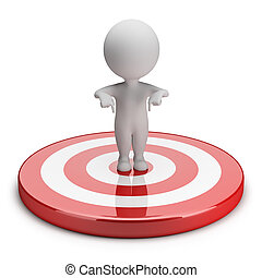 3d small people - goal - 3d small person standing in the ...