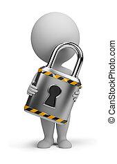 3d small people - lock