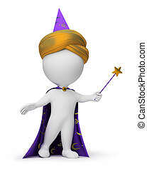 3d small people - magician - 3d small people - wizard with a...