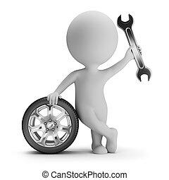 3d small people - mechanic
