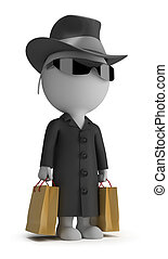 3d small people - mystery shopper - 3d small person -...