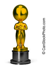 3d small people - oscar - 3d small person - golden oscar...